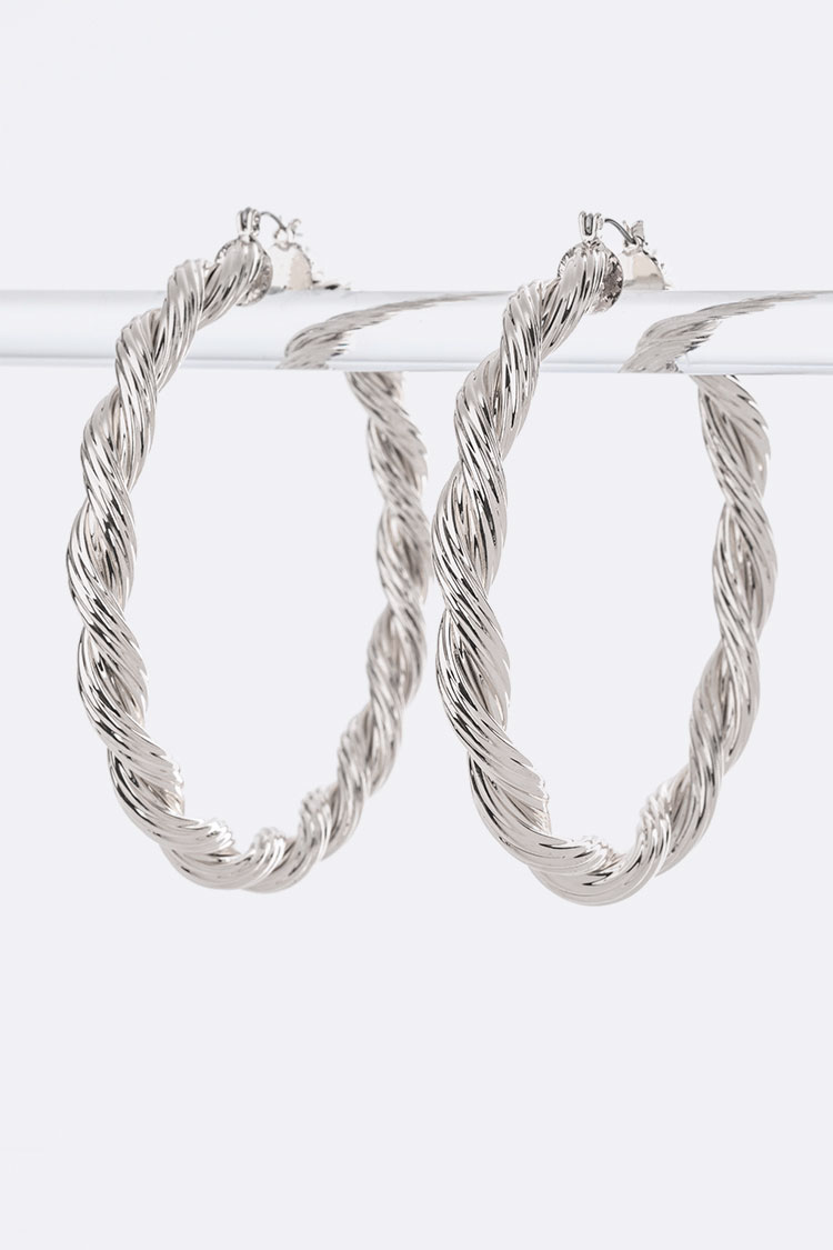 Iconic Twisted Large Hoop Earrings