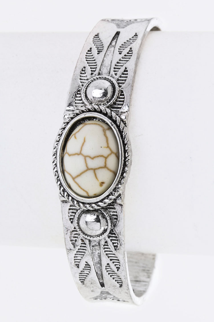 Paved Stone & Embossed Cuff
