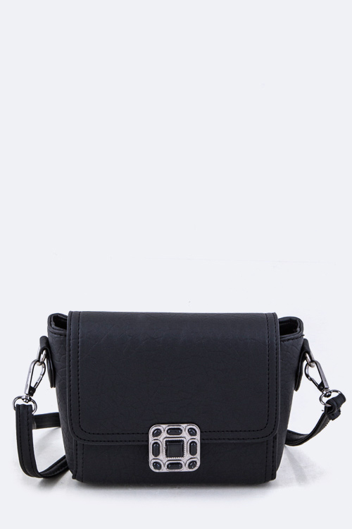 Textured Cross Body Bag