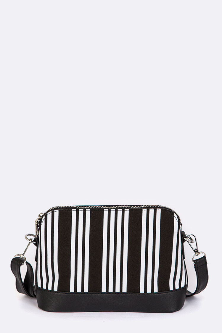 Stripy Crossbody Swing Bag