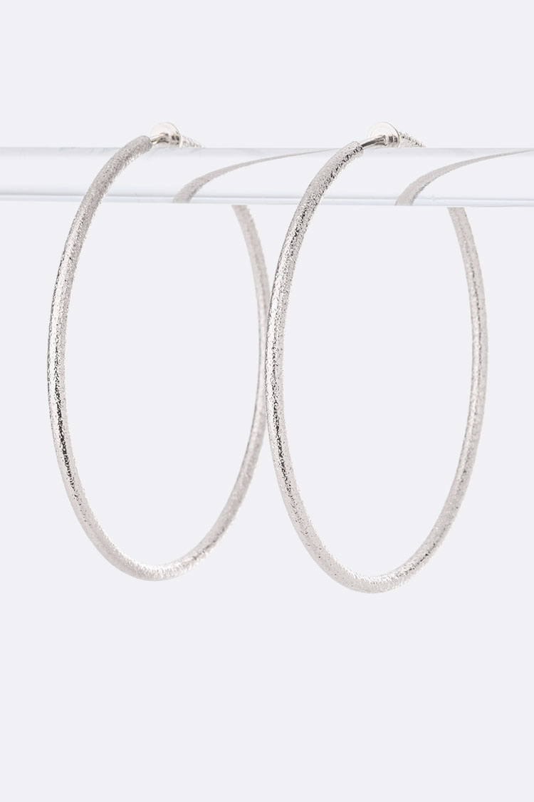 80MM Large Clip On Texture Hoops