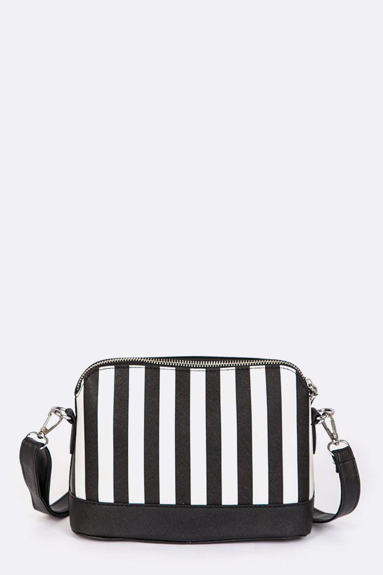 Stripe Iconic Crossbody Swing Bag