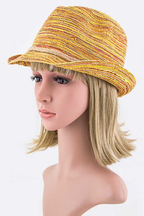 Mix Yarn Fedora Hat