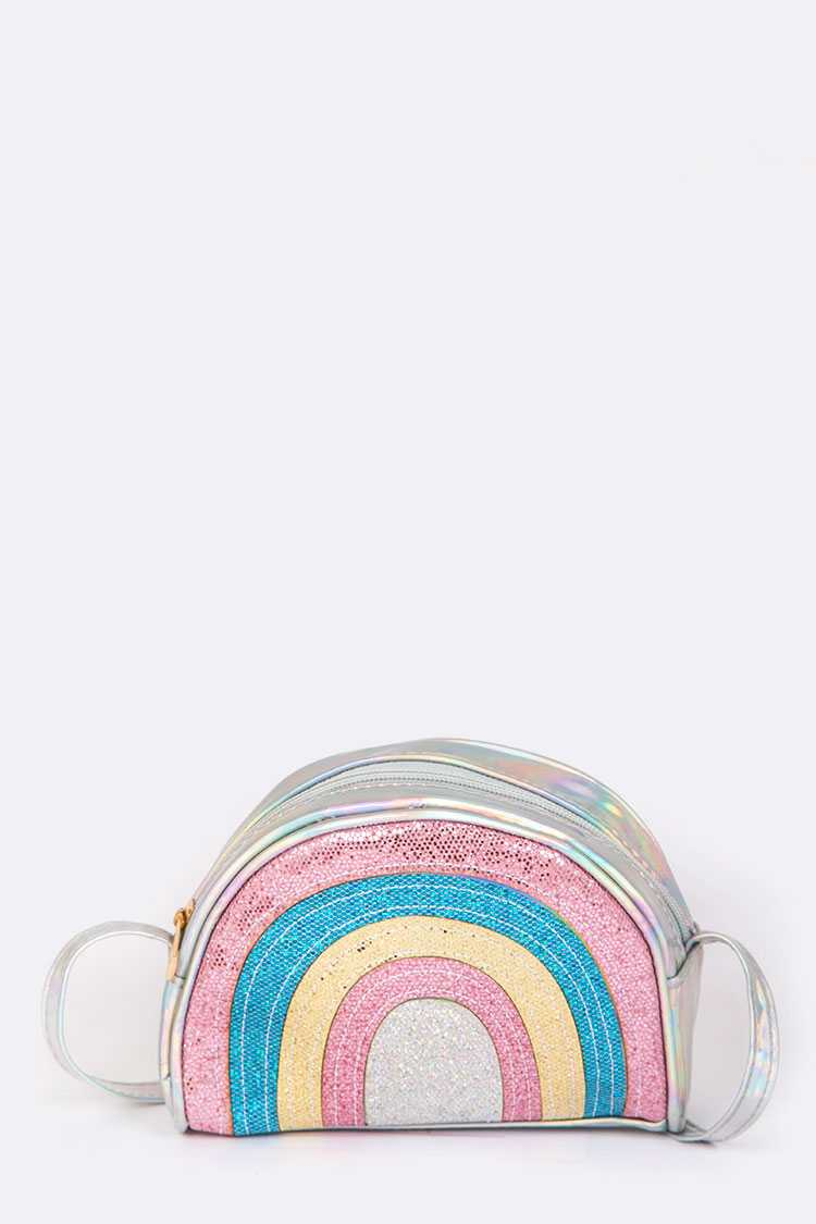 Holographic Glittery Rainbow Swing Bag