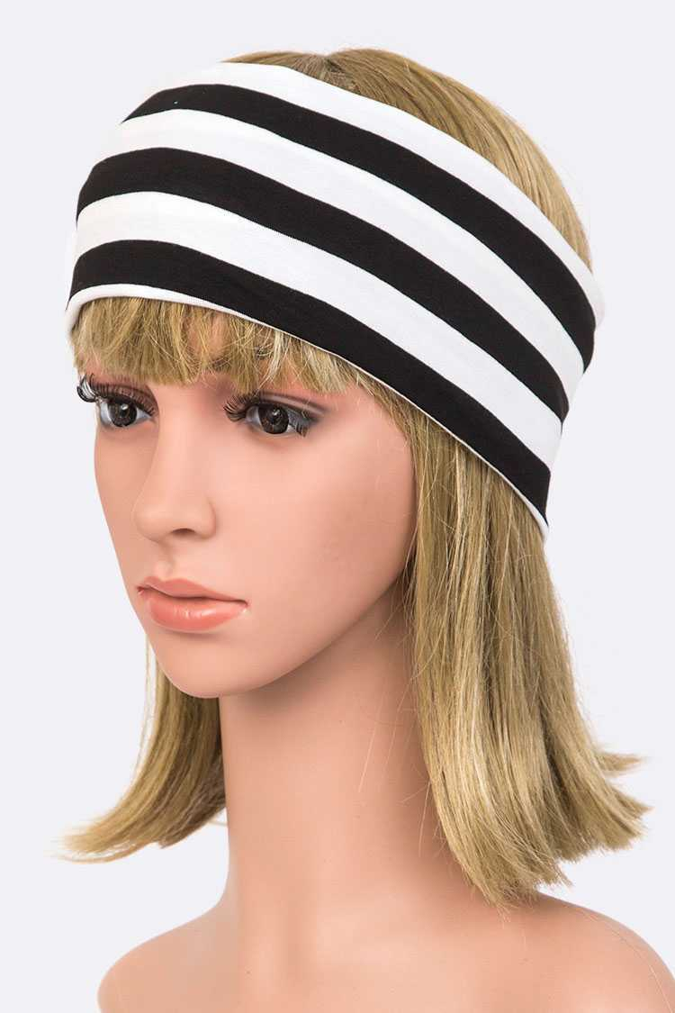 Jersey Knit Stripy Soft Headband