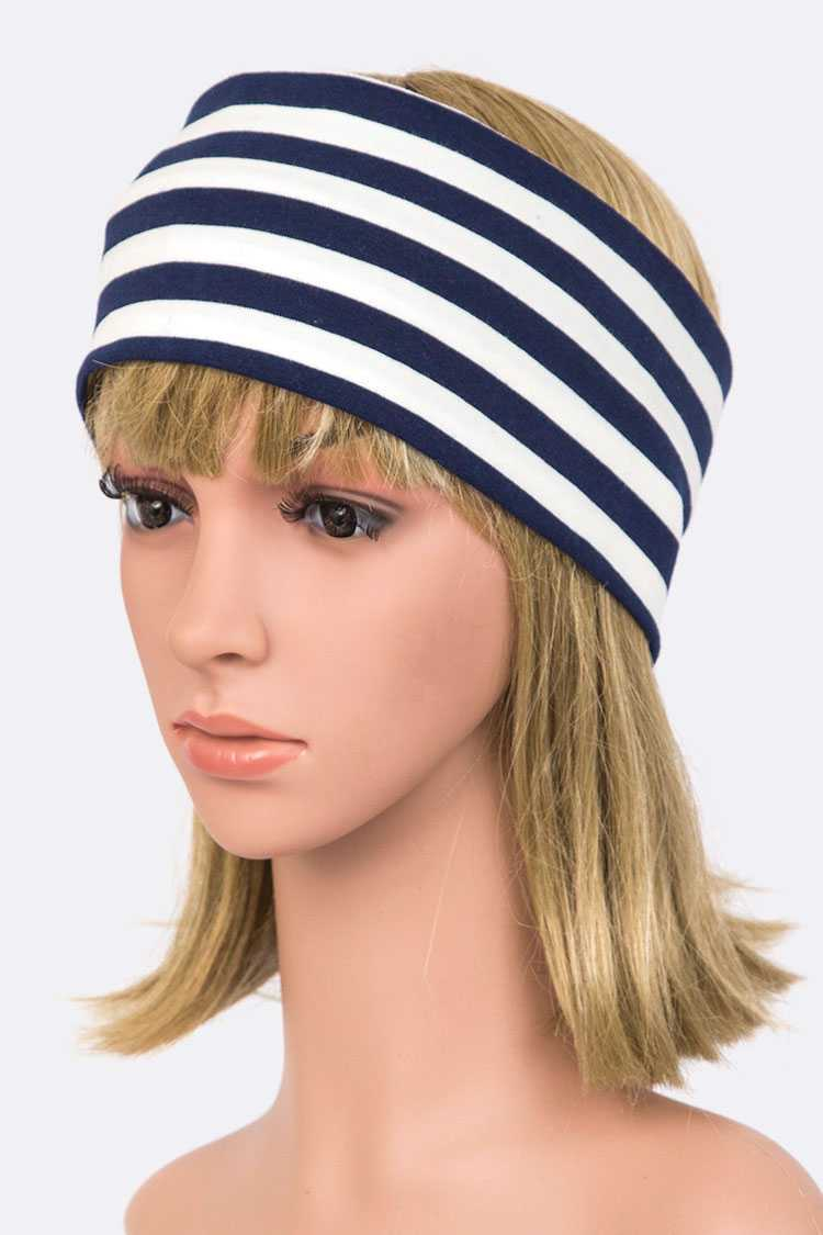 Jersey Knit Wide Stripy Soft Headband