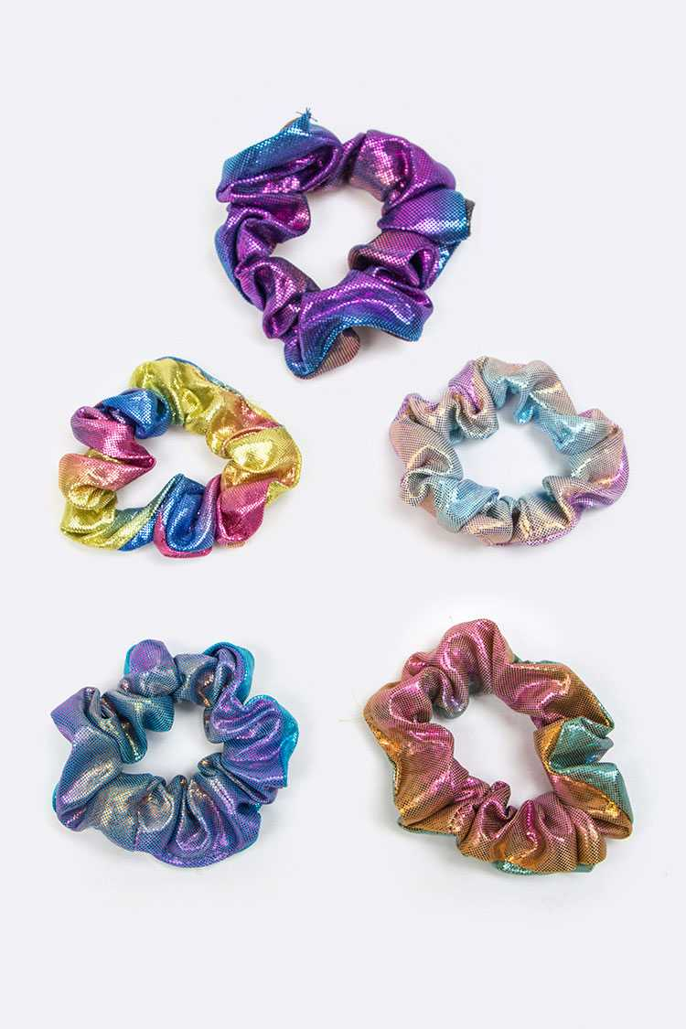 Metallic Ponytail Scrunchies