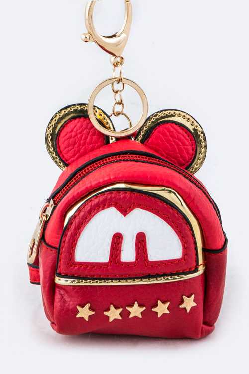 Star Studs Mouse Backpack Key Charm