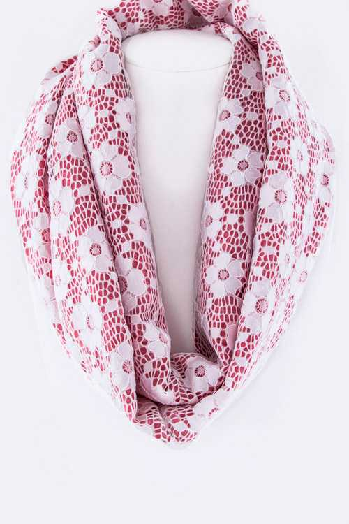 Flower Lace Infinity Scarf