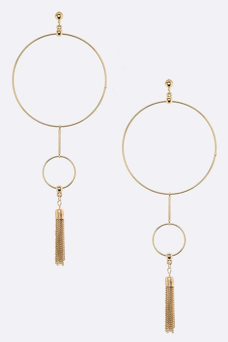 Chain Tassel Jumbo Rings Iconic Earrings