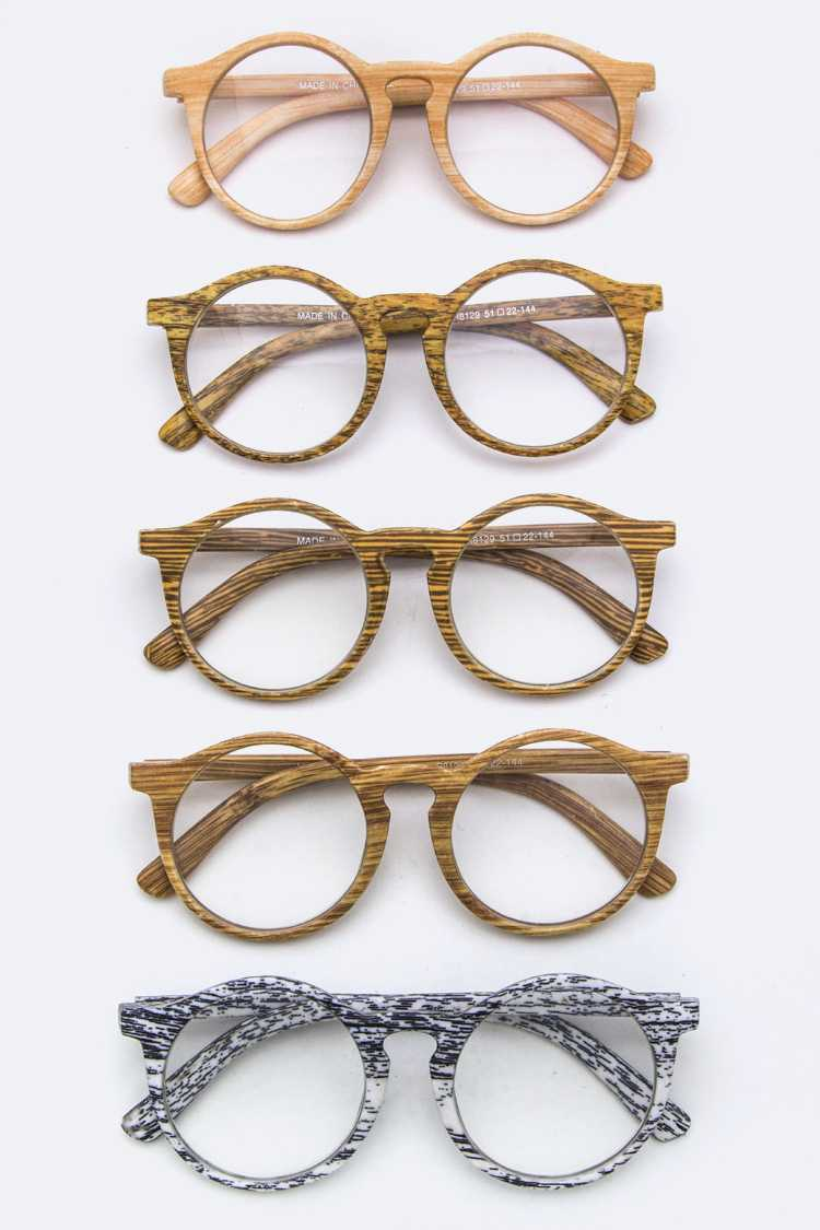 Wooden Print Reading Glasses