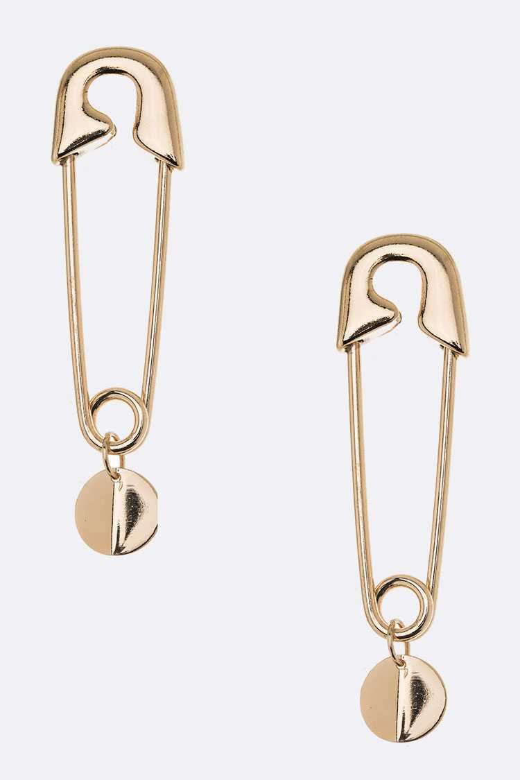 Safety Pin Inspired Iconic Earrings