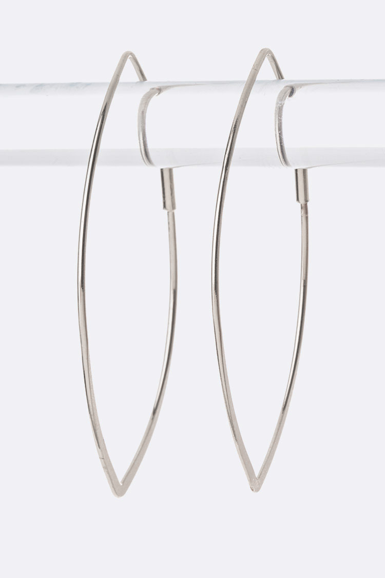 Almond Shape Iconic Hoop Earrings