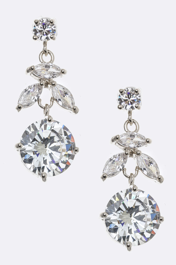 Mix CZ Dangle Earrings