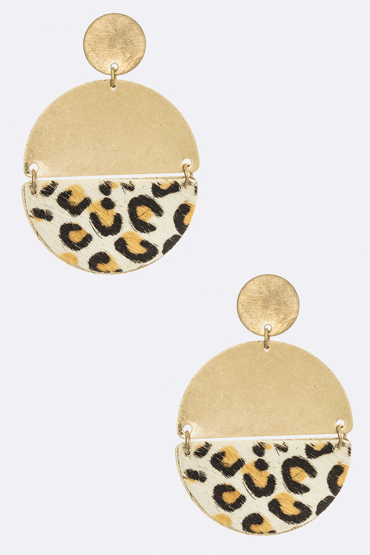 Leopard Print Pony Iconic Earrings