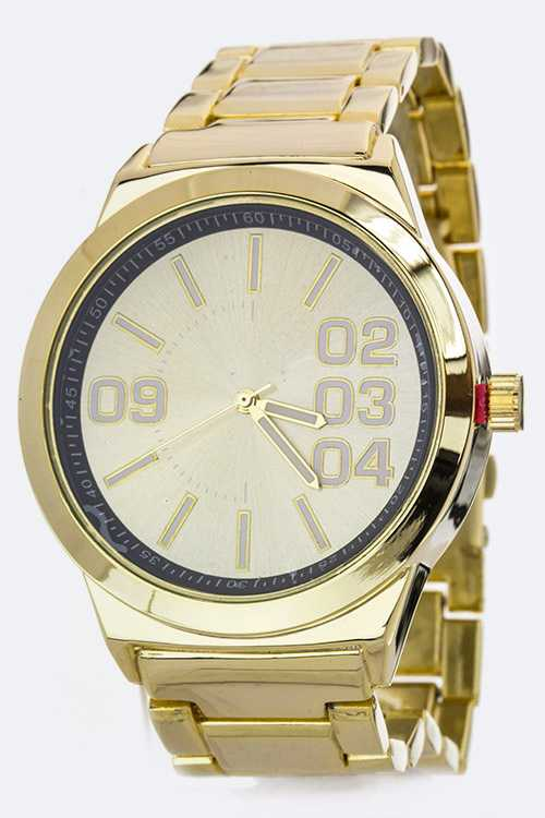 Unisex Large Dial Fashion Watch