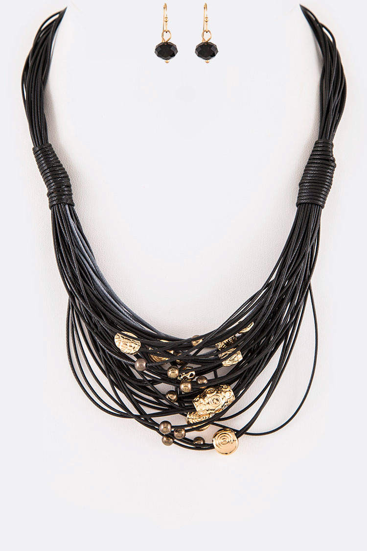 Beaded Cording Iconic Necklace Set
