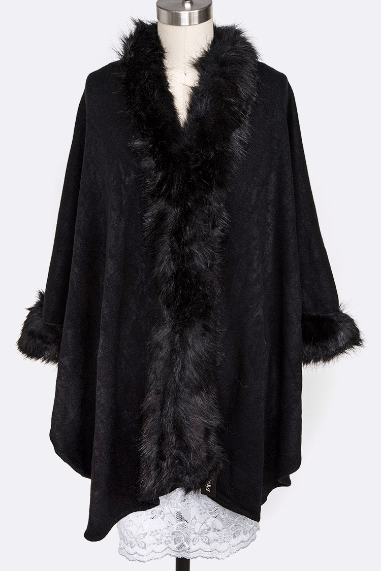 Faux Fur Iconic Poncho