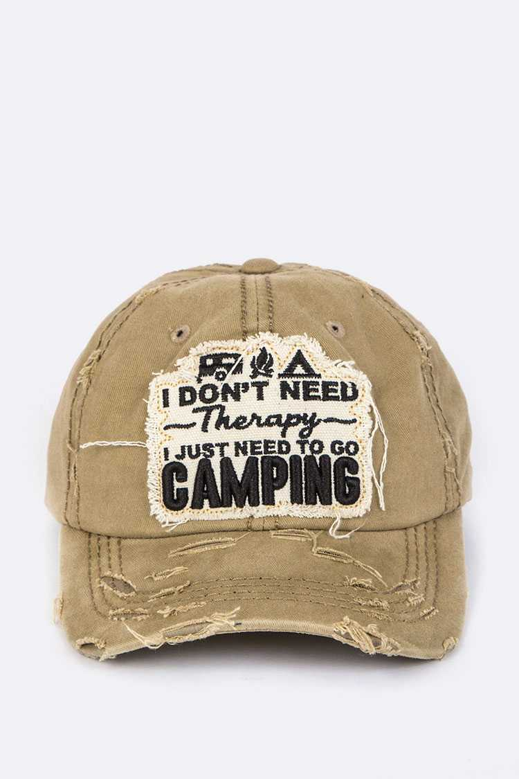 CAMPING Embroidery Cotton Cap