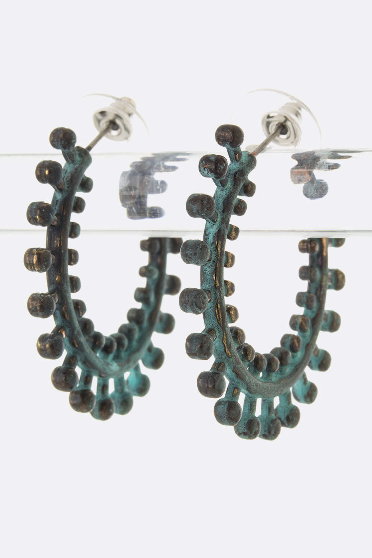 Metal Wheel Hoop Earrings