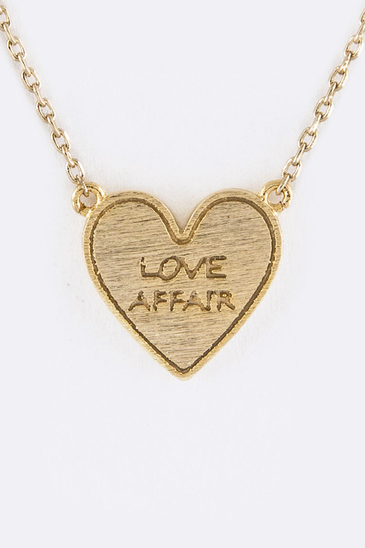 Love Affair Petite Heart Pendant Necklace