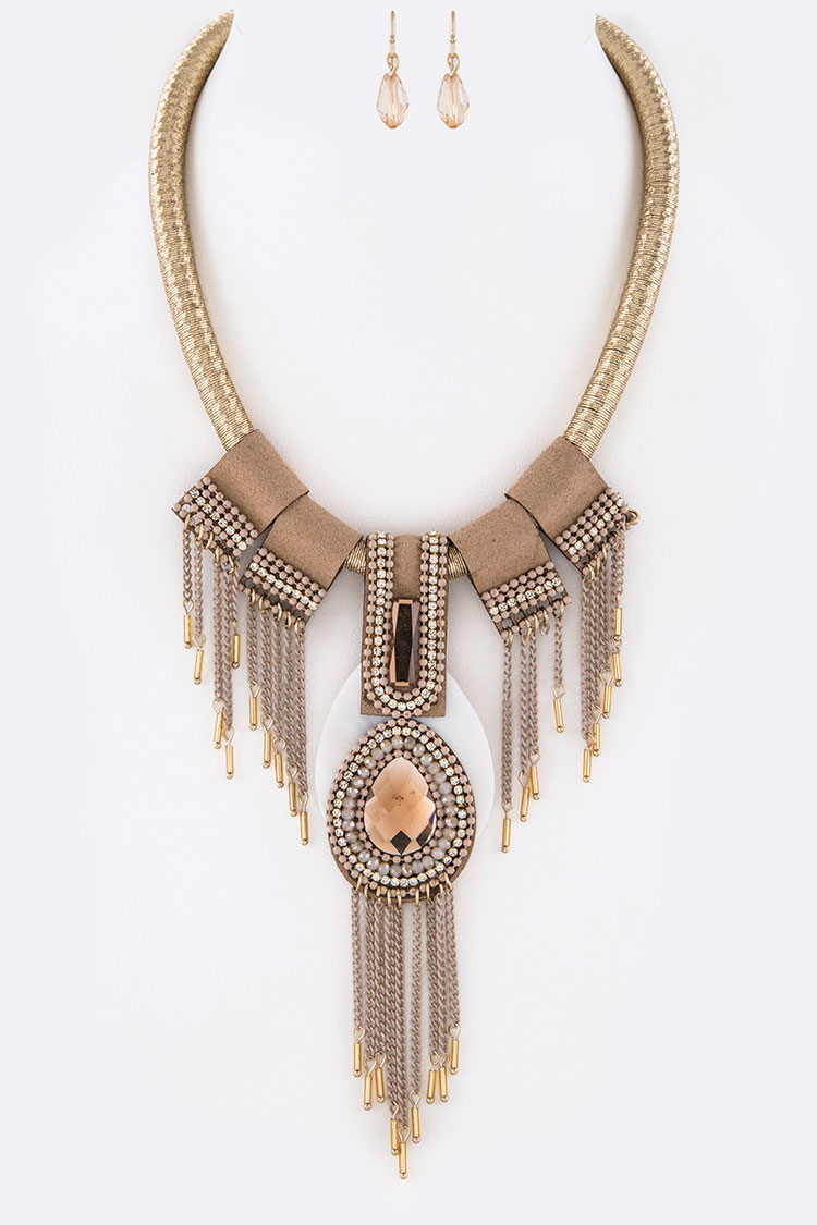 Fringe Chain Iconic Necklace Set