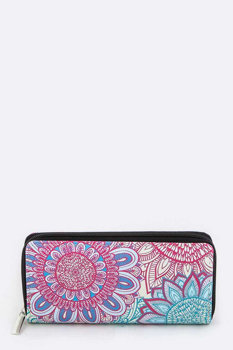 Flower Art Print Wallet