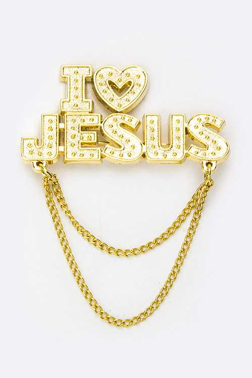 I LOVE JESUS Brooch