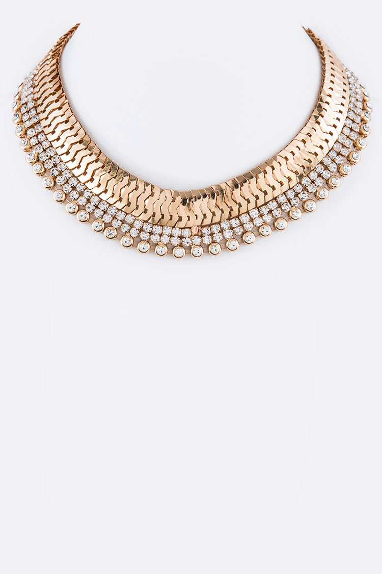 Crystal Iconic Collar Necklace