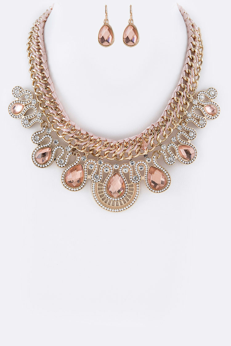 Crystal Iconic Lace Necklace Set
