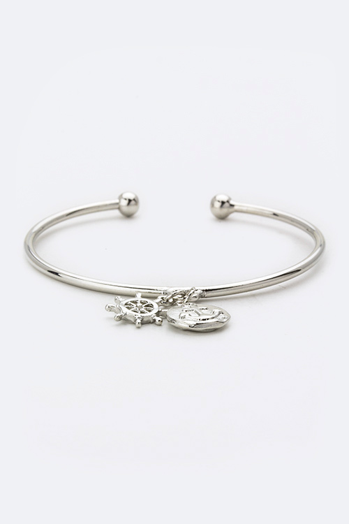 Sailor's Mix Charms Open Bangle