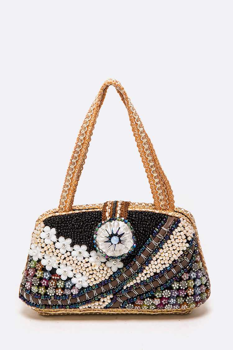 Mix Beaded Iconic Soft Clutch Bag