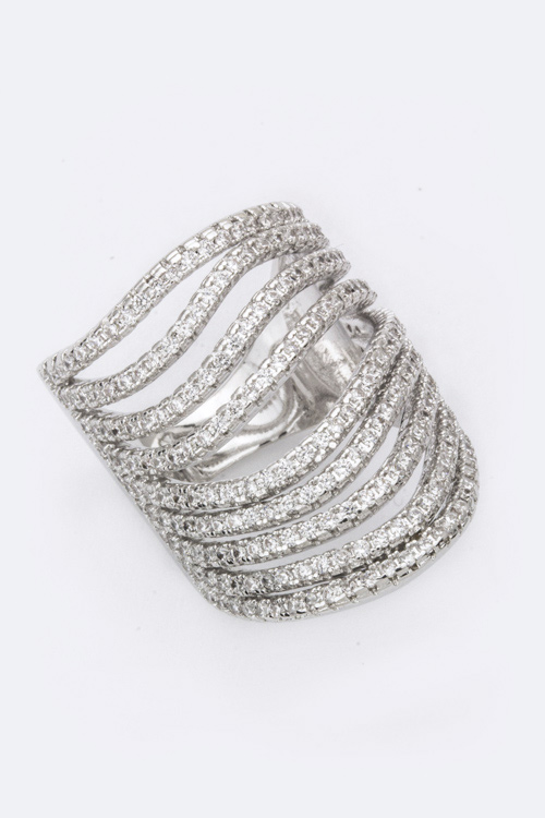 CZ Layer Cage Ring
