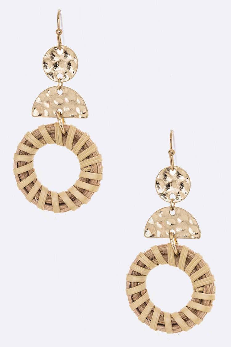 Straw Wrapped Iconic Drop Earrings