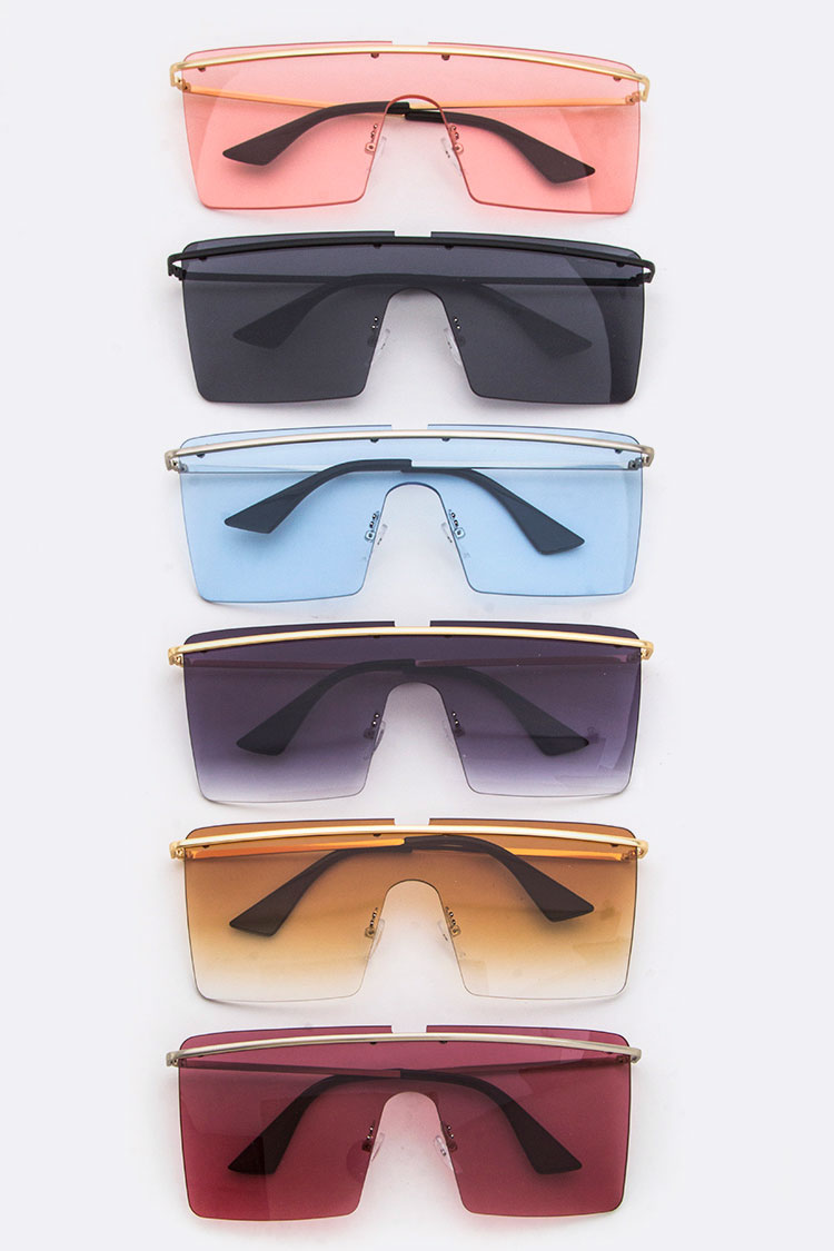 Top Bar Iconic Square Sunglasses