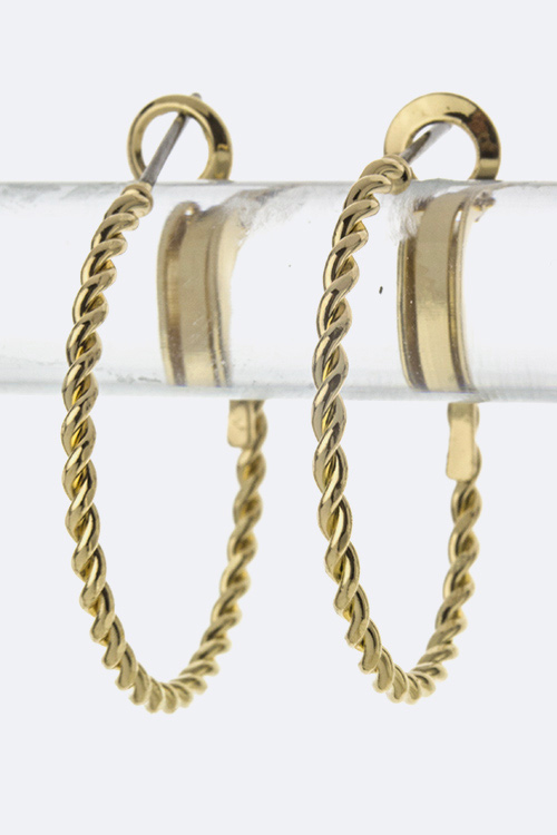 Twisting Hypo Allergenic Fashion Hoops - M