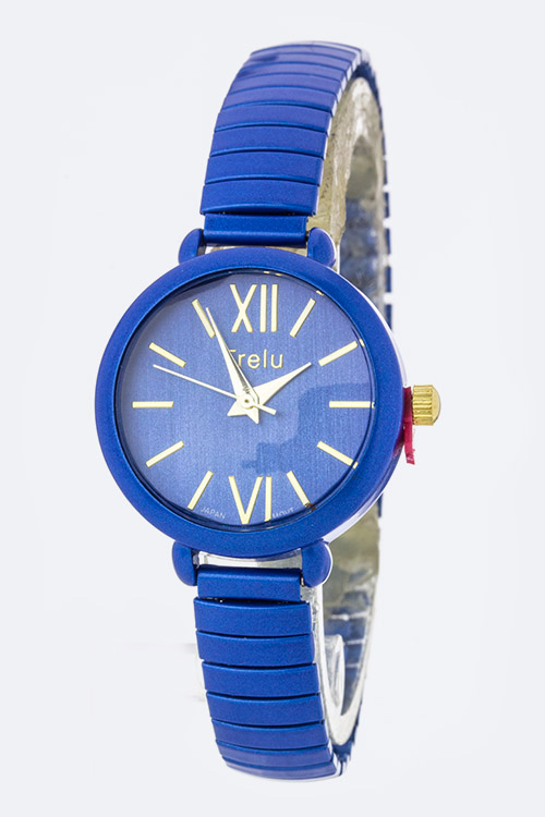 Roman Number Fashion Stretch Watch