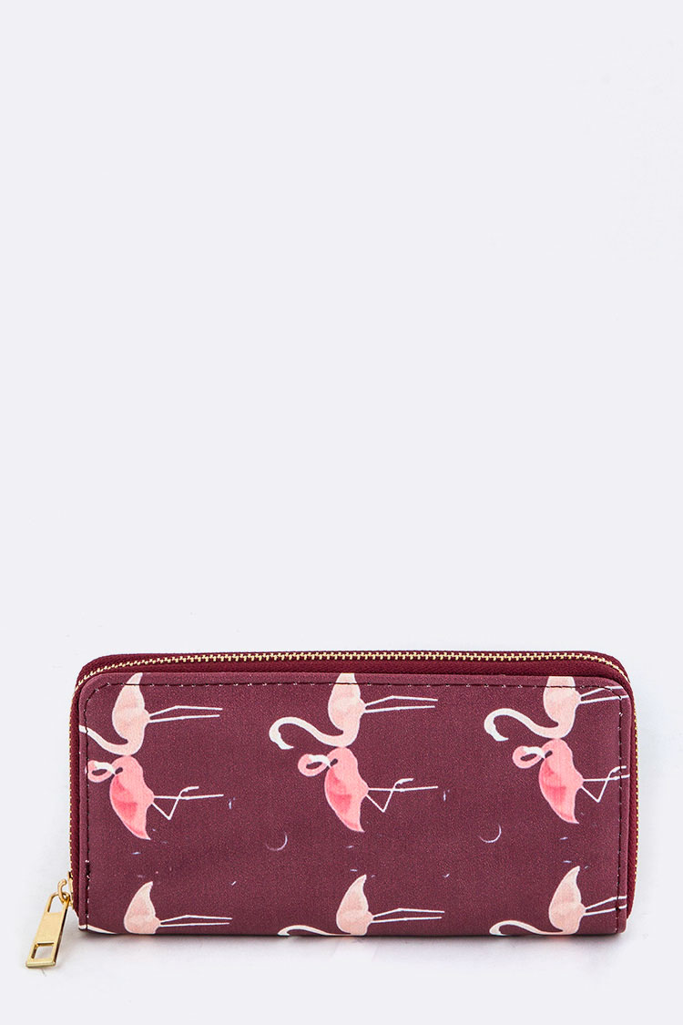 Flamingo Print Wallet
