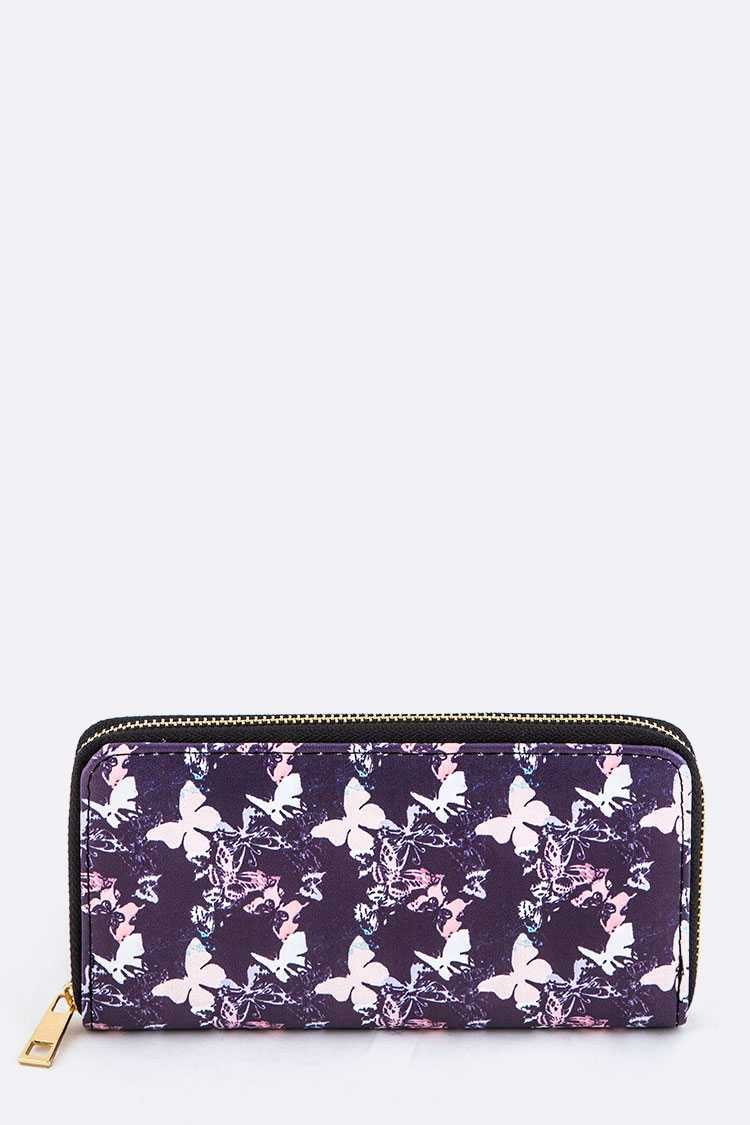 Abstract Butterfly Print Wallet