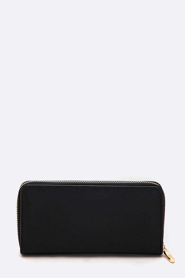 Black Color Solid Classic Wallet