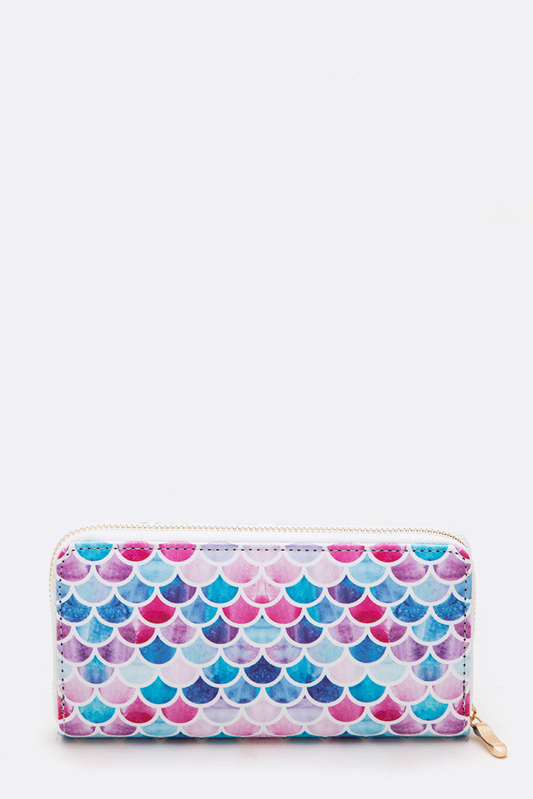 Mix Color Scale Print Fashion Wallet
