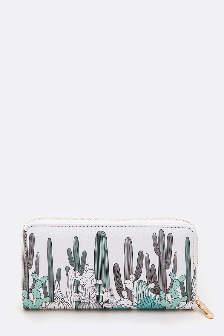 Mix Cactus Print Fashion Wallet