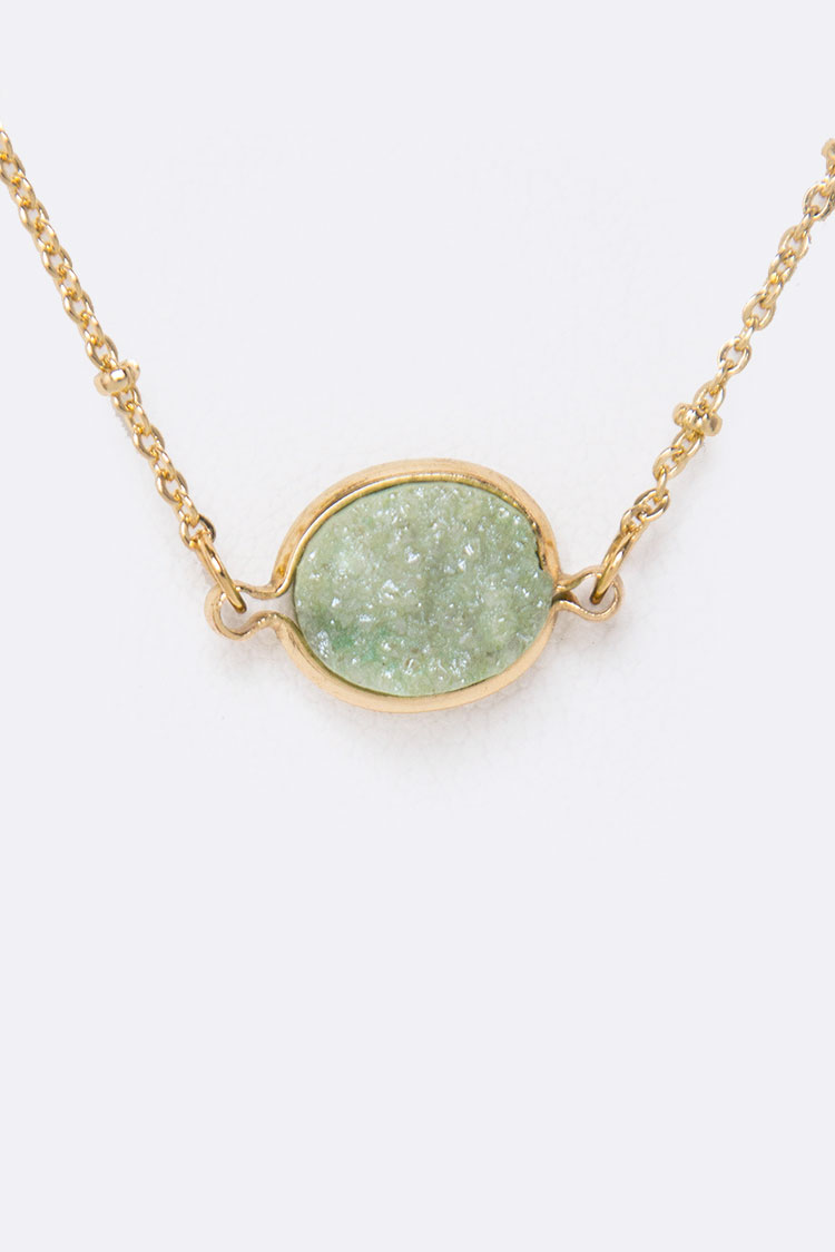 Genuine Druzy Layered Necklace