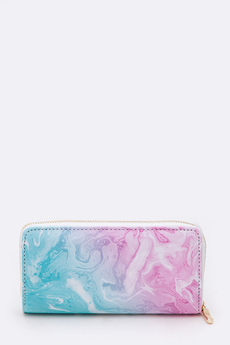 Swirly Ombre Mix Color Fashion Wallet