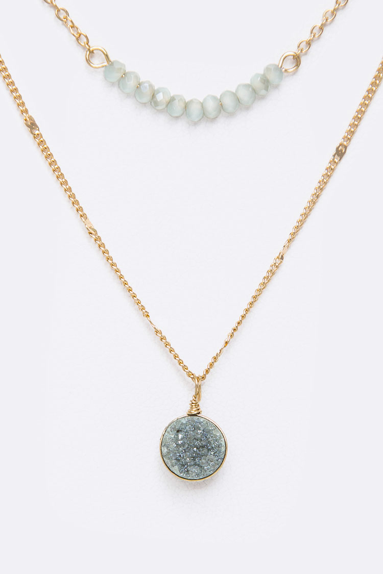 Petite Druzy Layered Necklace