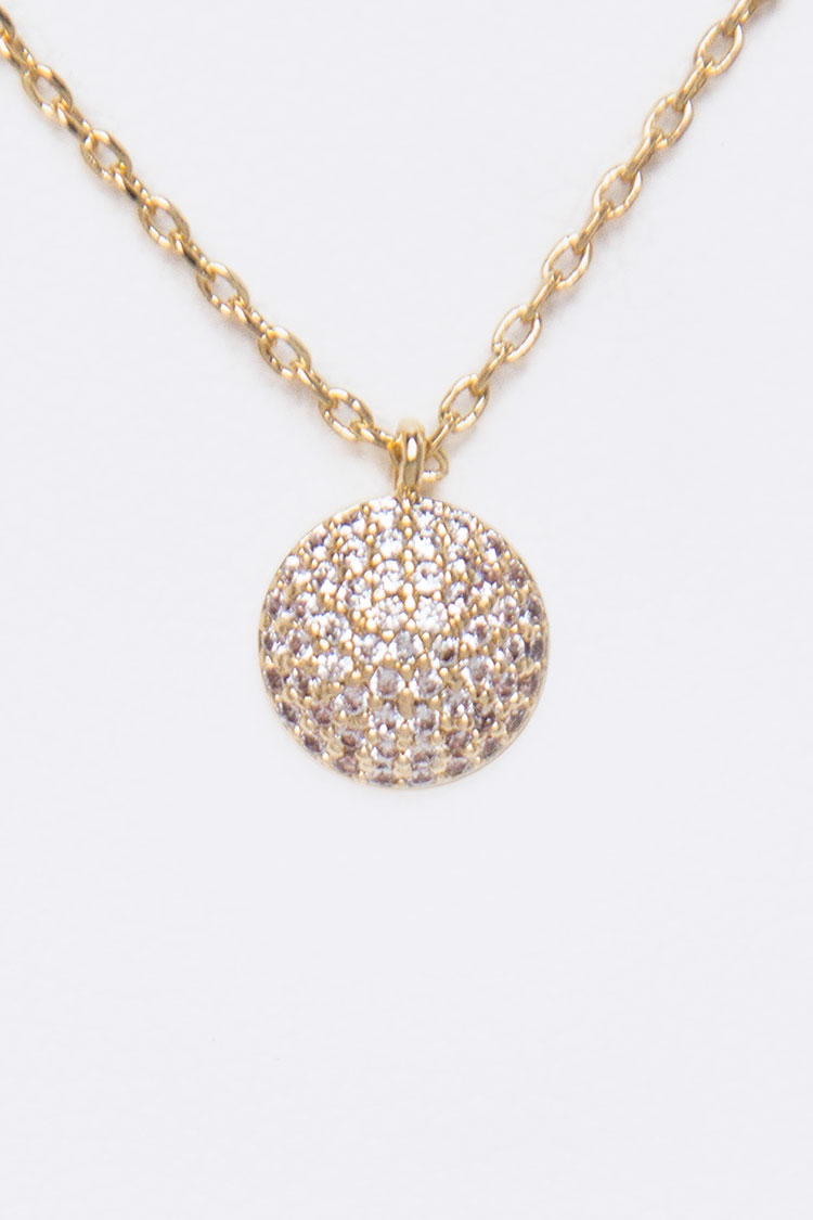 Micro Setting CZ Pendant Necklace