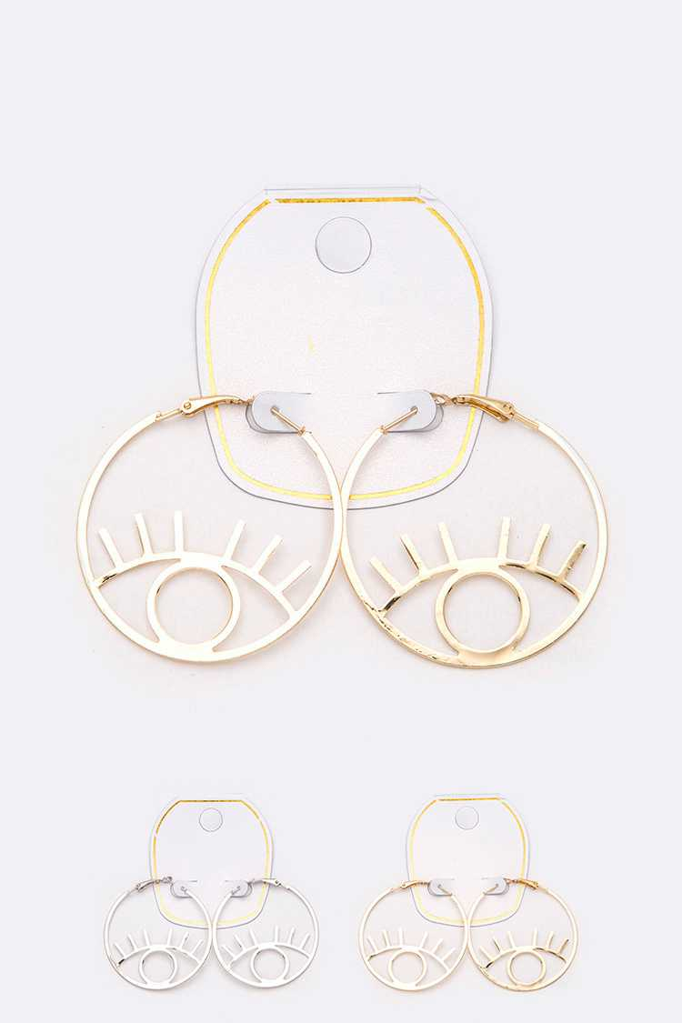 Eyes Iconic Hoop Earrings Set
