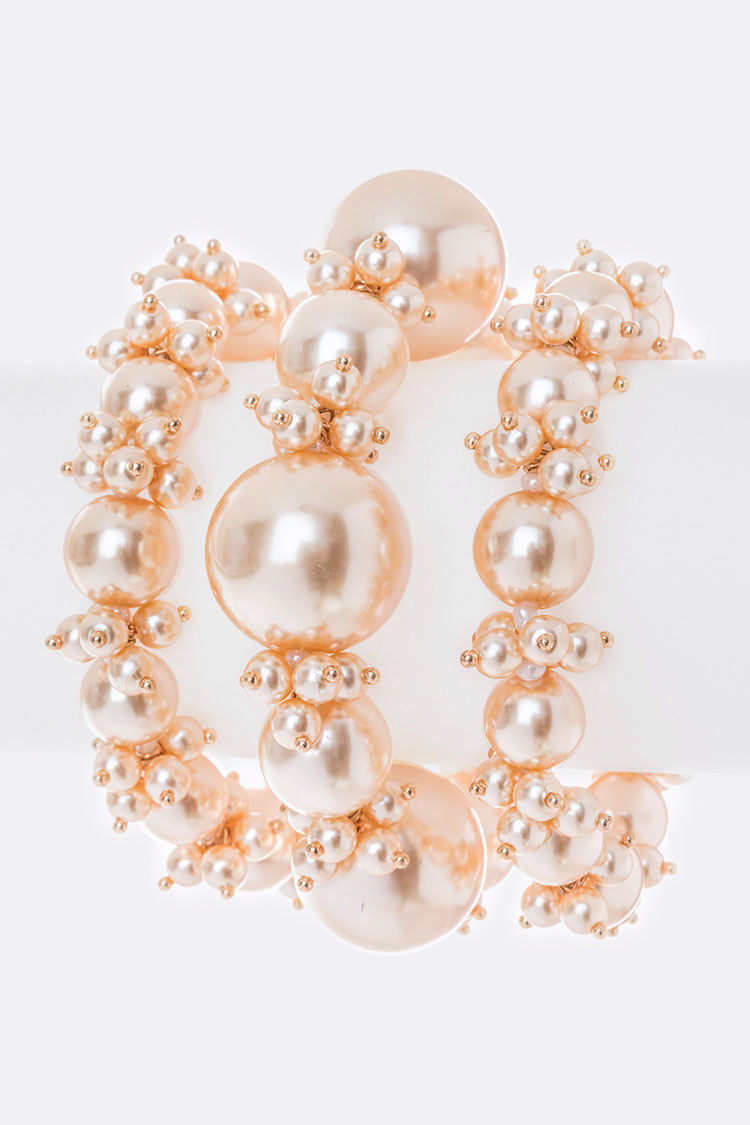 Mix Pearls Iconic Stretch Bracelet Set
