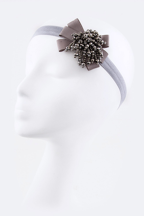 Fringed Crystal Bow Fashion Headband