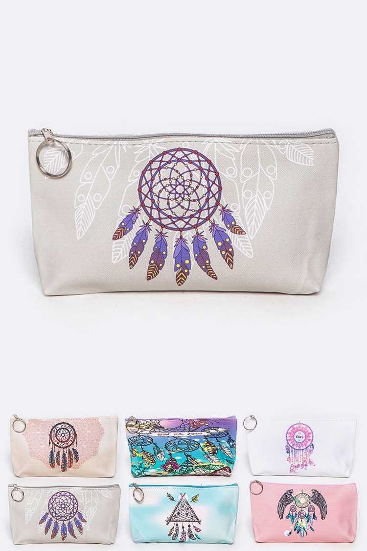 Dream Catcher Mix Print Pouch Set